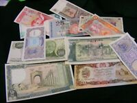 Lot of 12 Uncirculated World Banknotes...Middle East /Islamic etc.Lot B44.