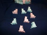 seaside cats and more hearts 30 Soy wax Banana Leaf mini melting tarts FREE shipping 6 shape choices