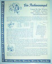Prospekt Miele Waschmaschinen Gütersloh 1931 Wäschemangel ! (D