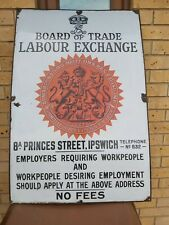 More details for board of trade labour exchange enamelled sign