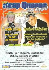 An 8 x 6 inch flyer for The Soap Queens Signed by Bernie Nolan & Richard Shelton
