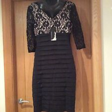 Ladies Black Dress 8 Party/ Cocktail/ Prom, Ever Pretty Knee Length,Sleeve BNWT