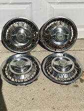 "1962 1963 CHEVY CORVAIR 13"" HUBCAPS WIRE SPINNER WHEEL COVERS SET OF 4 Chevy II"