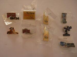 10 pins Marlboro et Philip Morris (paquets, voiture, ski, club espace cinéma ..)