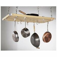 Rectangular Natural Wood Ceiling Kitchen Rack - Item #PR40232