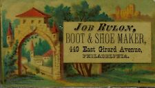 Victorian Trade Card Job Ruloy Boot & Shoe Maker Country Estate Image F89