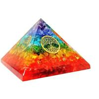 Extra Large Onyx Orgone Pyramid With 4 Tree Of Life For Energy Generator