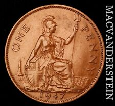 Great Britain: 1947 One Penny - Scarce  High Grade  #NR8370
