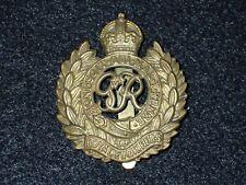 WWII Great Britain British Cap Hat Badge Device Royal Engineers Nice Original