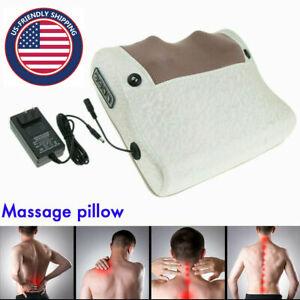 Electric Massage Pillow Head Neck Shiatsu Massager Kneading Shoulder Pain Relief