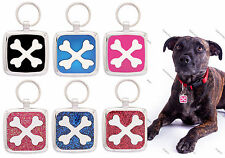 Pet Tag dogs Custom Engraving Dog Tag Charm Pettag Collar Crossbone engraved