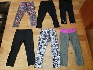 LOT of 6 Nike DRI-FIT LULULEMON ZELLA Capri Tights Womens SMALL RUNNING WORKOUT