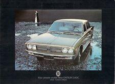 Datsun Nissan 240C Saloon 1971-72 UK Market Sales Brochure Cedric