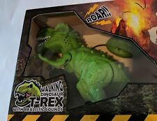 Remote Controlled GREEN T-Rex Dinosaur RC Toy Lifelike movement Walking