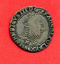 (MD 20) MONNAYAGE DE LA LIGUE HENRI III DEMI-FRANC 1592 TOULOUSE (TTB) RARE