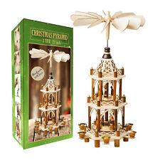 German Christmas Carousel Pyramid windmill Nativity Scene- 21in Decoration