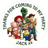 48 Personalised Toy Story 4  Party Bag Stickers Sweet Bag Seals Cone Labels 40mm