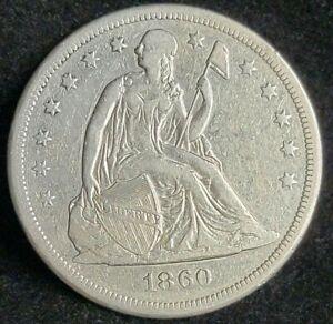 1860-O Liberty Seated Silver Dollar