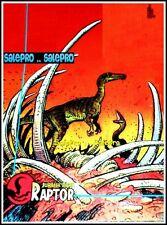 UNIVERSAL STUDIO TOPPS 1993 VINTAGE JURASSIC PARK RAPTOR DINOSUAR MINT PROMO #6