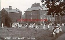 REAL PHOTOGRAPHIC POSTCARD THE CONVENT GARDEN FETE, SCARBOROUGH, NORTH YORKSHIRE