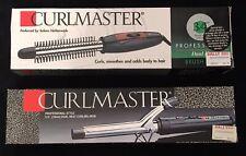 "NIB Curlmaster Dual Heat Curling Iron And Brush Iron Combo, 3/4"""