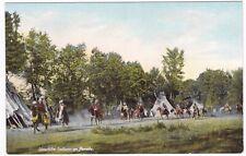 Postcard Umatilla Indians Native Americans Tipis Horses Encampment Oregon A8