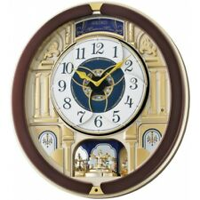 4517228829826 Seiko QXM356B Melody in Motion Wall Clock With Rotating Pendulum
