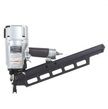 "Hitachi NR83A3 3-1/4"" Plastic Collated 21deg Pneumatic Framing Nailer with Depth"