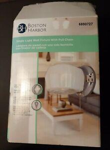 Boston Harbor Single Wall Light Fixture with Pull Chain Chrome Finish #689727