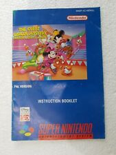 MANUALE ISTRUZIONI SNES THE GREAT CIRCUS MYSTERY - CAPCOM - PAL UK