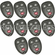 Lot of 10 New Replacement Keyless Entry Car Remote Key Fob Clicker for 15252034