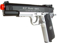 WG WinGun Airsoft Gas Pistol CO2 Metal 1911 500 FPS Sliver Black Two Tone Model