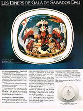 PUBLICITE  1967   SALVADOR DALI  art de la table  assiettes à tirage limité