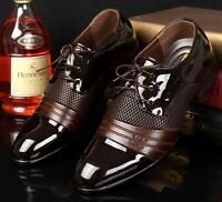 New Mens Casual Oxford Lace Up Dress formal black brown comfortable Shoe Size