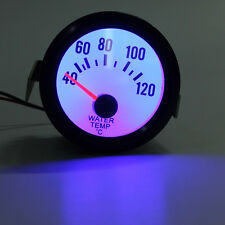2Inch 52mm Car Auto Water Temperature Temp Gauge 40 - 120 Celsius Blue LED NEW