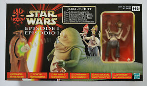 Star Wars Episode 1 Jabba The Hutt with 2-Headed Announcer - Hasbro - 1999