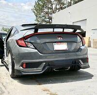 Fits 16-20 Honda Civic 10th-Gen 2dr Si/EX/LX Type-R Rear Diffuser PP plastic