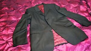 Gieves and Hawkes Savile Row black personal Tailored suit 42R 35W 32.5L