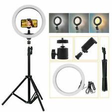 "10"" LED Ring Light Dimmable Kit Phone Selfie Tripod Makeup For Youtube Live Lamp"