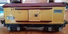 LIONEL #655 PRE-WAR BOXCAR CREAM / MAROON 1933-38 C-7 EXCELLENT NICE CAR