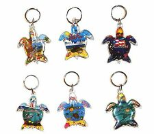 LOT OF 6 PUERTO RICO RICAN TURLE KEY CHAIN RING CARS TRUCKS SOUVENIRS Holder