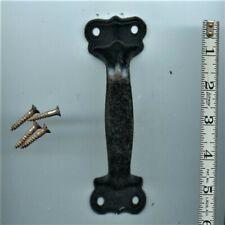 """Antique Hardware Iron Door Pull Handle 2"""" x 6"""", Heavy Duty"""