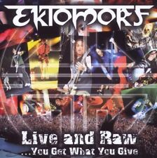 EKTOMORF 'LIVE AN RAW' DVD + CD NEW!!!!!!!!!!!!!!!!!