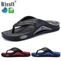 Mens Thongs Sandals Beach Flip Flops Massage Gym Slippers Flat Shower Bath Shoes