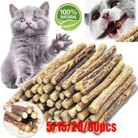 15/20pcs Matatabi Katzen Kauhölzer Catnip Snacks Sticks Katzenminze Zähne Gesund