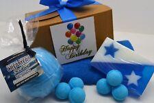 Mens Hamper Birthday Present Gift Box Dad Husband BoyFriend Bath Bombs & Soap