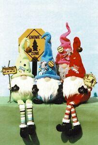 "Cloth Folk Art Doll Pattern ""Roly Poly Sitting Gnomes"" By Ginny Lettorale"