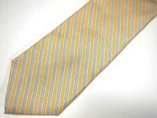 "Brooks Brothers 346 Mens Necktie Tie Gold Grey Striped 60"""