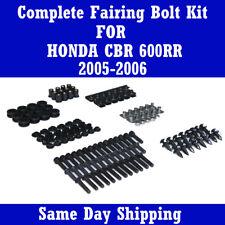 Motorcycle Fairing Bolt Kit Black Screws Fastener for HONDA 2005 2006 CBR 600RR