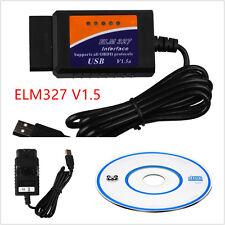ELM327 portable interface usb connecteur OBD2 véhicule diagnostique scanner scan kit